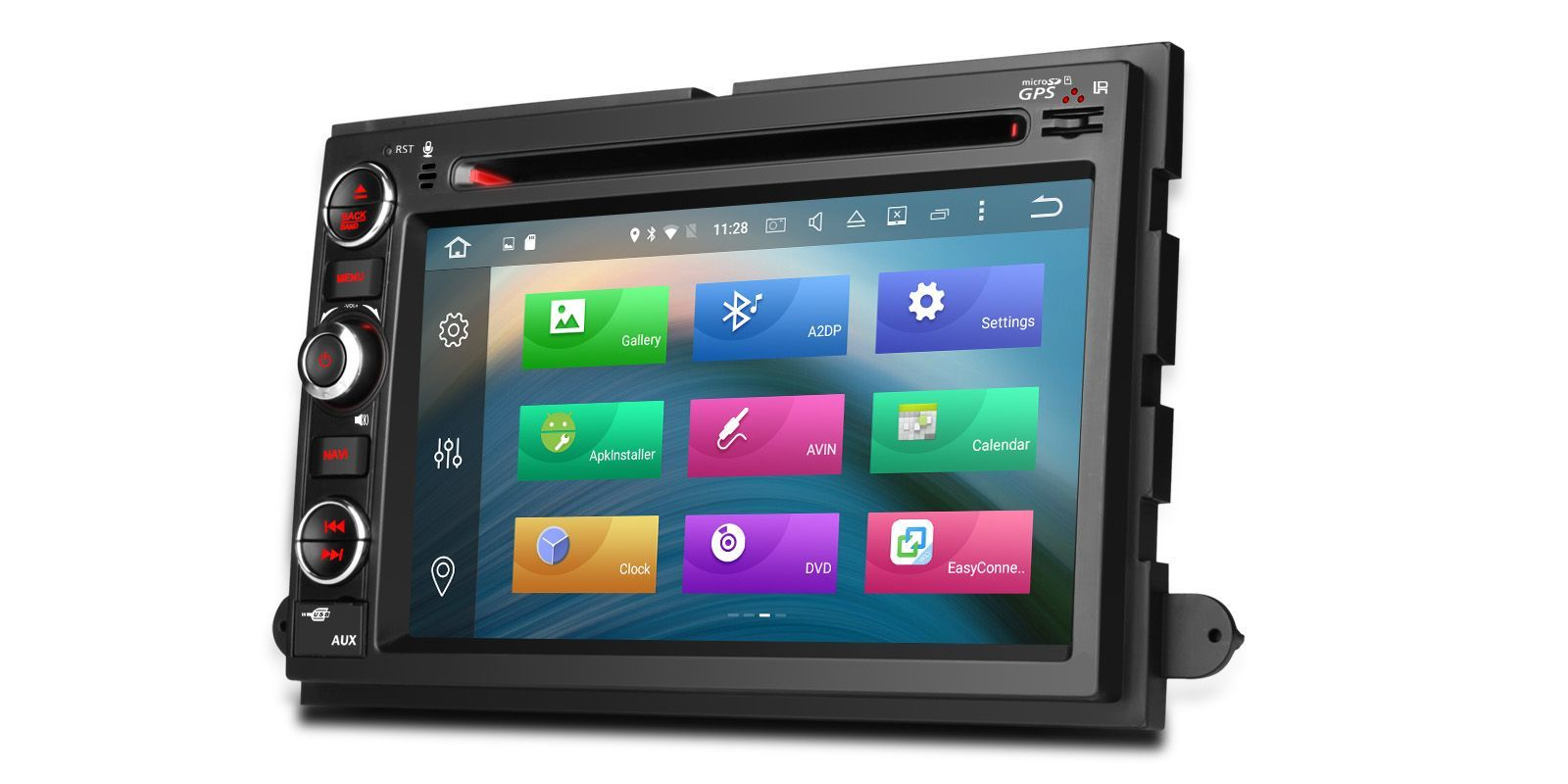 7 octacore android 6 0 2gb ram car dvd gps wifi ford. Black Bedroom Furniture Sets. Home Design Ideas