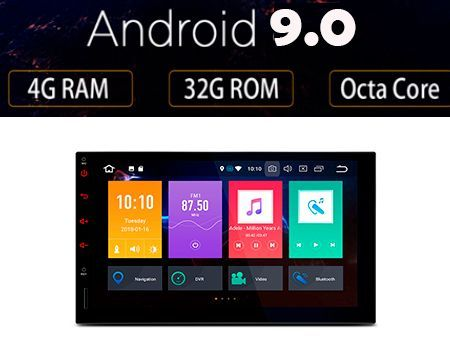 2 DIN Android 9 0 Radio GPS 4GB RAM OctaCore TE709IPL