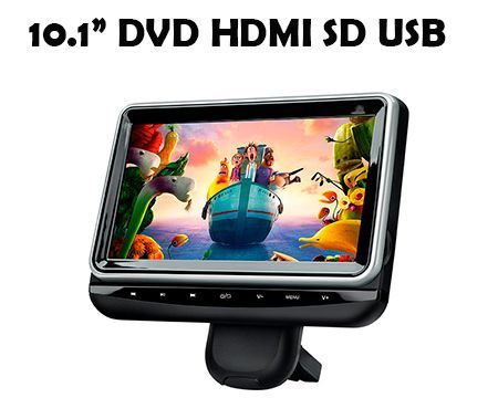 3326cd27bbc Inicio / Pantallas / Reposacabezas / 10.1 Pulgadas / 10,1″ PANTALLA  REPOSACABEZAS DVD SD USB HDMI AV IN/OUT HD XTRONS HR102